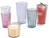 Crystalon Tumblers in Caribbean Rimglow