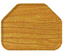 Glasteel Wood Grain Trapezoid
