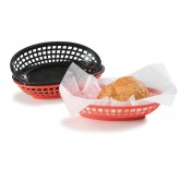 "Carlisle 033303 Bread And Bun Basket Oval Basket 9-1/4"" x 6"" - Black"