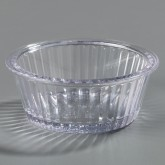 Carlisle 084507 Fluted Ramekin 4.5 oz - Clear