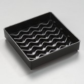 "Carlisle 1102003 NeWave Square Drip Tray 4"" - Black"