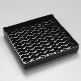 "Carlisle 1102603 NeWave Square Drip Tray 6"" - Black"