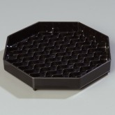 "Carlisle 1103603 NeWave Octagon Drip Tray 6"" - Black"