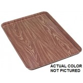 "Carlisle 1318WFG094 Glasteel Wood Grain Display/Bakery Tray 17-3/4"" x 12-3/4"" x 1"" - Redwood"