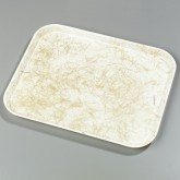 "Carlisle 1612DFG030 Glasteel Decorative Rectangular Tray 16-3/8"" x 12"" x 3/4"" - Starfire Natural"