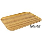 "Carlisle 1826WFG065 Glasteel Wood Grain Euronorm Tray 10-1/4"" x 7-3/32"" x 3/4"" - Light Oak"