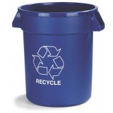 Carlisle 341020REC14 Bronco Recycle Waste Container 20 gal - Blue