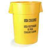 Carlisle 341044USD04 Bronco Waste Container 44 gal - Yellow