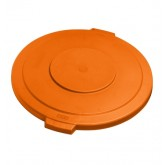 "Carlisle 34104524 Bronco 44 gal Lid 26.88"" x 2.25"" - Orange"
