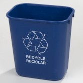 Carlisle 342928REC14 Recycle Wastebasket 28-1/8qt - Blue