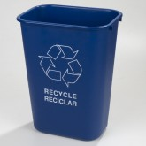 Carlisle 342941REC14 Recycle Wastebasket 41-1/4 qt - Blue