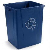 Carlisle 344056REC14 56 gal Recycle Waste Container 56 Gallon - Blue