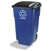 Carlisle 345050REC14 50 gal Recycle Rolling Container 50 gal - Blue