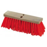 "Flo-Pac 36111624 Flo-Pac 16"" Heavy Polypropylene Sweep 16"" - Orange"