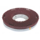 "Flo-Pac 361700G22-5N Colortech Red Rotary Grit Brush 17"" - Red"
