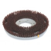 "Flo-Pac 361700G70-5N Colortech Brown Aggressive Industrial Scrubbing Brush 17"" - Brown"