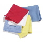 "Flo-Pac 3633402 Terry Microfiber Cleaning Cloth 16"" x 16"" - White"