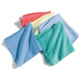 "Flo-Pac 3633409 Terry Microfiber Cleaning Cloth 16"" x 16"" - Green"
