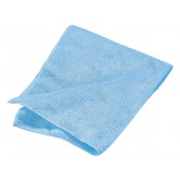 "Flo-Pac 3633414 Terry Microfiber Cleaning Cloth 16"" x 16"" - Blue"