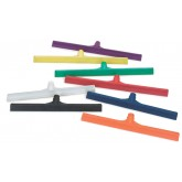 "Sparta 3656803 Spectrum Color-Coded One-Piece Rubber Floor Squeegee 24"" - Black"