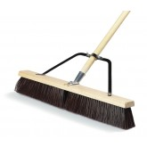 "Flo-Pac 367366TC24 24"" Medium Sweep w/Stiff Polypropylene Bristles Center & Softer Border 24"" - Black"