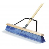 "Flo-Pac 367382TC14 24"" Fine Sweep w/Flagged Blue Plastic Bristles - Blue"