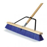 "Flo-Pac 367390TC14 24"" Rough Sweep w/Heavy Duty Stiff Blue Plastic Bristles 24"" - Blue"