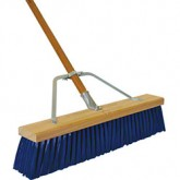 "Flo-Pac 367394TC14 24"" Heavy and Rough Sweep w/Stiff Blue Plastic Bristles 24"" - Blue"