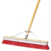 "Flo-Pac 367396TC24 24"" Medium Scraperbroom w/Orange Flagged Plastic Bristles 24"" - Orange"