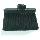 Flo-Pac 3687403 Wide Duo-Sweep Warehouse Broom (Head Only) 13 inches - Black