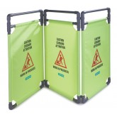 Carlisle 3694404 Caution Cones And Barriers 3 Panel Caution Barrier - Avocado