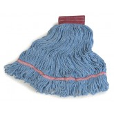 Flo-Pac 369454B14 Flo-Pac Large Looped-End Mop With Red Band - Blue