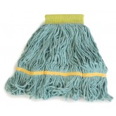 Flo-Pac 369472B09 Flo-Pac Small Looped-End Mop With Yellow Band - Green