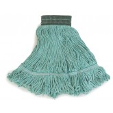 Flo-Pac 369478B09 Flo-Pac Medium Looped-End Mop With Green Band - Green
