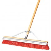 "Flo-Pac 36952424 Flo-Pac Polypropylene Sweep With Steel Scraper Blade 24"" - Orange"