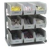 "Carlisle 381109LG Packet Rack 18""x 12""x 19"" - Gray"