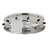 "Carlisle 3812CH 12 Clip Ceiling Hung Order Wheel 14"" - Stainless Steel"