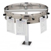 "Carlisle 3812CM 12 Clip Counter Mt. Order Wheel 14"" - Stainless Steel"