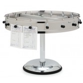 "Carlisle 3820MP 20 Clip Portable Order Wheel 23"" - Stainless Steel"