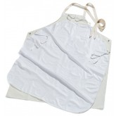 Carlisle 4069000 Wrap Around Vinyl Apron (w/sturdy reinforced ties) (12/pk) - off white
