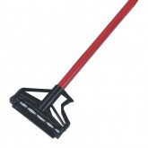 "Carlisle 4166405 Sparta Spectrum Quik-Release Fiberglass Mop Handle 60"" Long / 1"" D - Red"