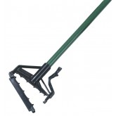 "Carlisle 4166409 Sparta Spectrum Quik-Release Fiberglass Mop Handle 60"" Long / 1"" D - Green"