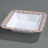 "Carlisle 44403917 Palette Displayware Square Bowl 14"" - Spanish Tile"
