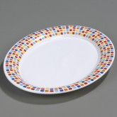 "Carlisle 44411917 Palette Displayware Oval Platter 17"" x 13"" - Spanish Tile"