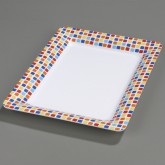 Carlisle 44417917 Designer Displayware Palette Displayware Rectangle x - Spanish Tile