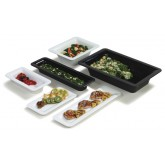 "Carlisle 4442403 Designer Displayware Full Size Food Pan 4"" - Black"