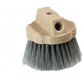 Flo-Pac 4535023 Round Window Brush With Flagged Polypropylene Bristles 4-1/2 - Gray