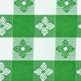 "Marko 51515252SM064 Classic Check Tablecloth 52"" x 52"" - Forest Green"