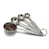 Carlisle 604300 Heavy Weight Measuring Spoons Set - Stainless Steel