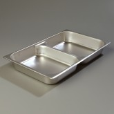 Carlisle 607002D DuraPan Full-Size Divided Pan 2-1/2""